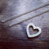 Pave Heart - Small 9ct White Gold