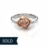 Rose - 9ct White & Rose Gold, Size L