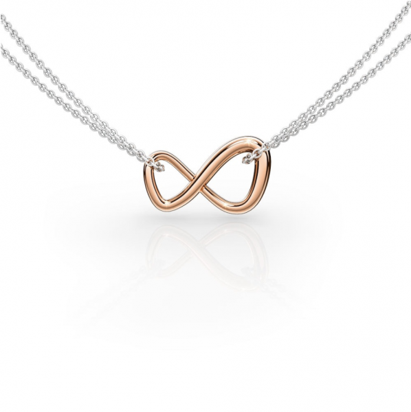 Infinity Pendant - Rose Gold
