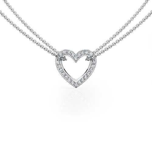 Pave Heart Small