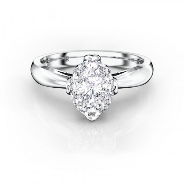 Rezare Oval - 1.00ct, G/SI, Platinum, Size K