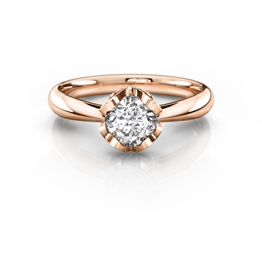 Angelica - 0.30ct, G/SI1, 18ct Rose Gold, Size K