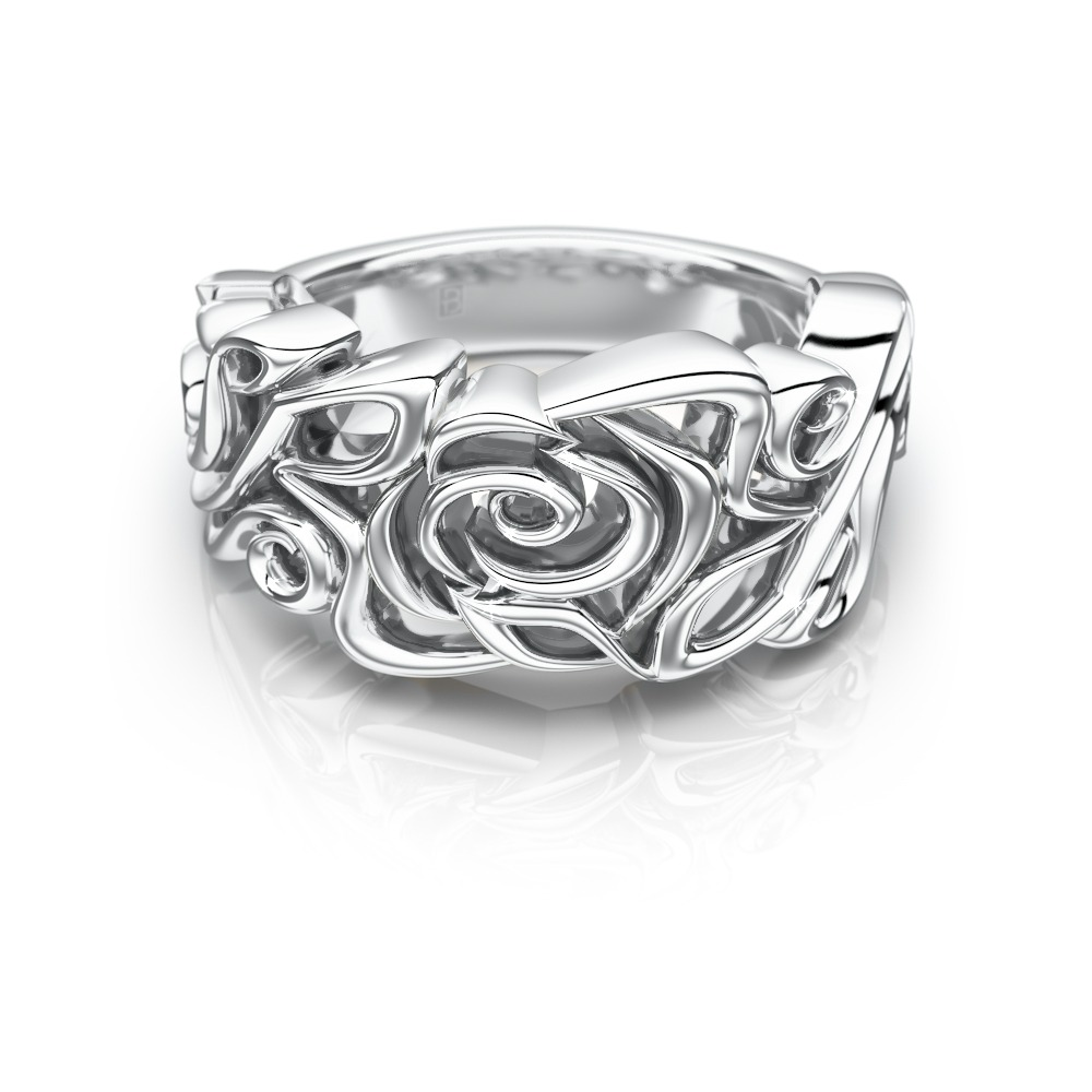 Filigree Rose Ring