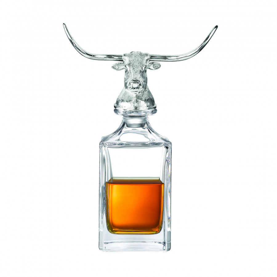 Longhorn Bull Crystal Decanter